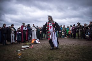 Druid King of Britain, Arthur Uther Pendragon (born John Timothy Rothwell) speaks to the gathered druids