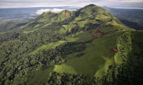 The Simandou mountains in Guinea