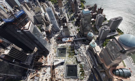 The site of the 9/11 attacks in New York.