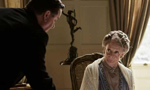 Jeremy Swift and Maggie Smith in Downton Abbey.