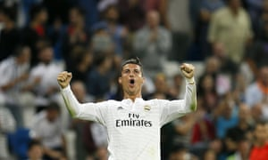 Real Madrid's Portuguese striker Cristiano Ronaldo has topped the Guardian's ranking of the world's best footballers in 2014.
