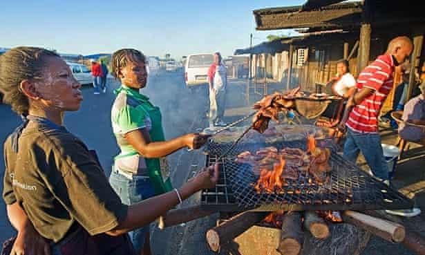 A township braai near Cape Town.