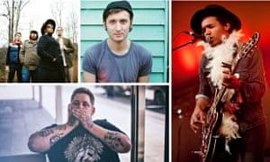 The new blues (clockwise from top left): Alabama Shakes, DD Dumbo, Benjmain Booker and Rag'N'Bone ma