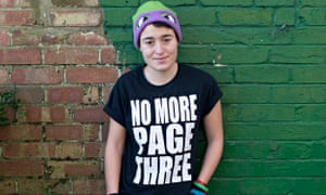 Yas Necati, 18, feminist activist. 'My parents have always been very supportive of me'.