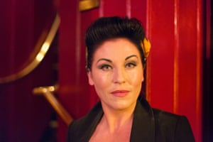 Jessie Wallace in the Theatre Royal Stratford East starring in Fings Ain't Wot They Used T'Be, photograph by Graham Turner for Arts
