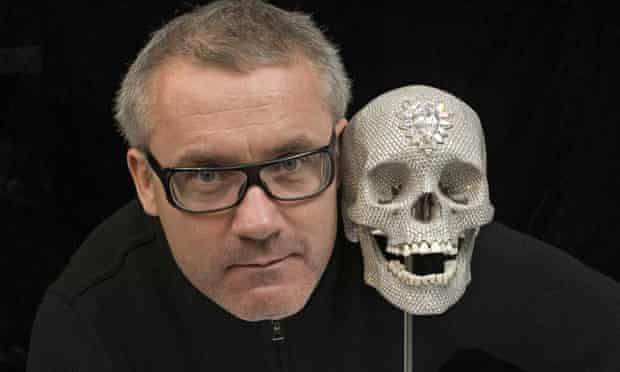 Damien Hirst with For the Love of God