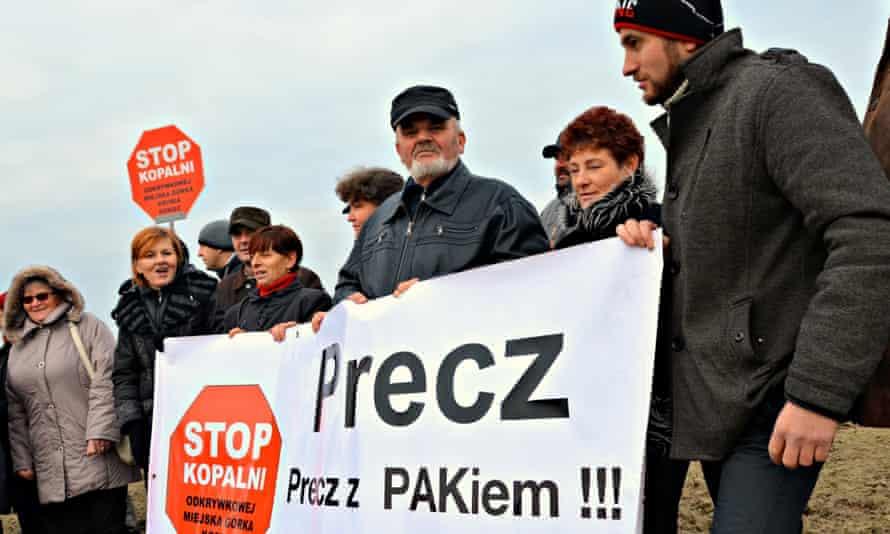 coal mine protest poland