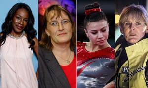Film director Amma Asante, space scientist Monica Grady, gymnast Claudia Fragapane and Happy Valley star Sarah Lancashire