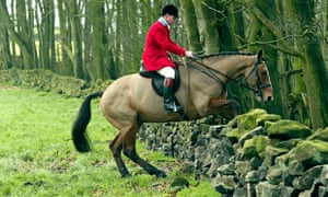 Fox hunter on horse