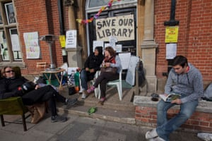 Campaigners holding a vigil against the closure of Kensal Rise library in north London.
