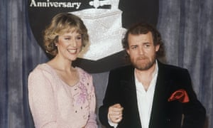 Joe Cocker with Jennifer Warnes in 1983. Their duet Up Where We Belong for the film An Officer and a Gentleman was a smash hit