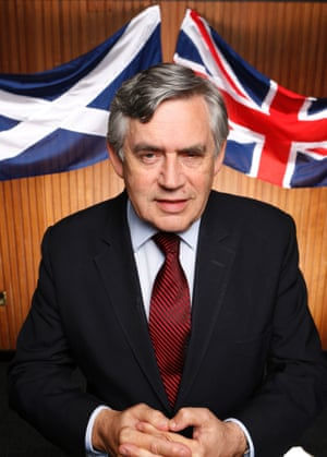 """Former prime minister, Gordon Brown, photographed by Murdo MacLeod for<a href=""""http://www.theguardian.com/politics/2014/aug/31/gordon-brown-battle-for-britain""""> G2</a> before he addressed a No Campaign Rally in Hamilton, Scotland in the runup to the Scottish Referendum in September"""