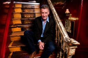 Michael Palin photo in a battered Soho club of his choosing by Linda Nylind in September
