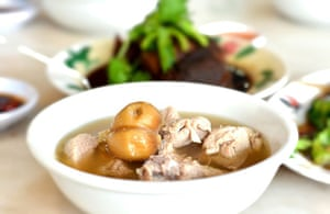 The Malaysian stew of pork and herbal soup, spicy peppery soup known as bak kut teh.