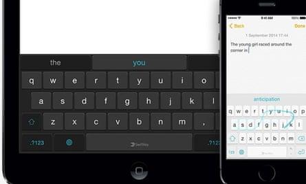 SwiftKey Keyboard for iOS.