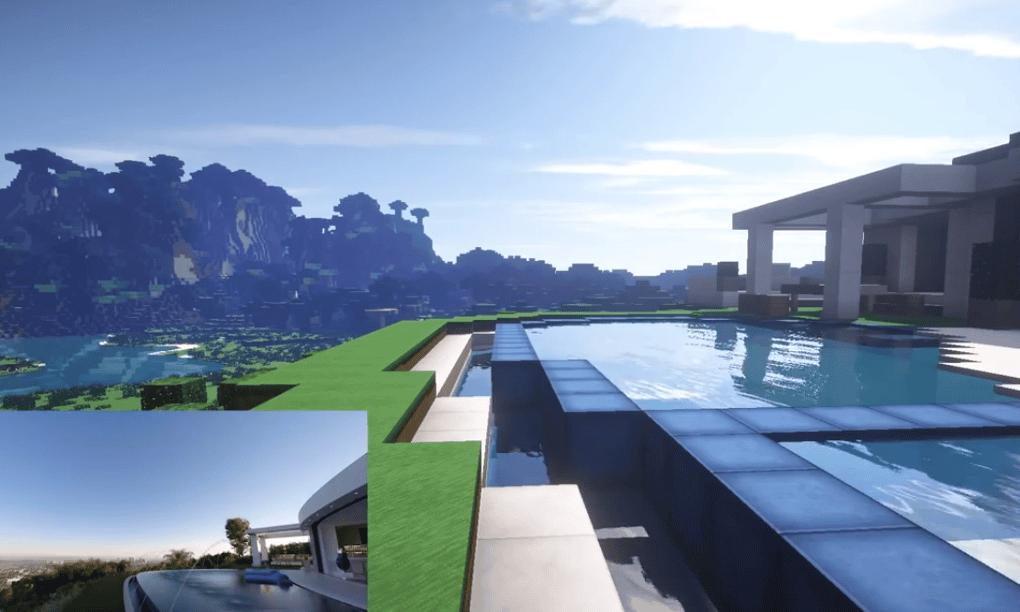 Minecraft Creator 39 S New Mansion Recreated In Minecraft