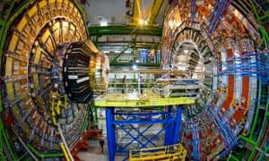 Work under way on the LHC at Cern.