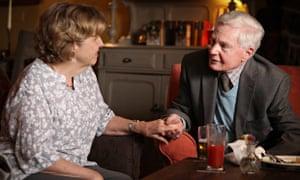 Celia (Anne Reid) and Alan (Derek Jacobi) in Last Tango in Halifax.