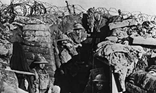 British soldiers first world war trench