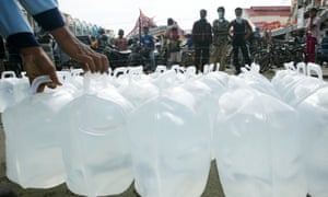 Water distribution in Indonesia