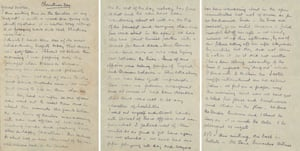 Alfred Dougan Chater's letter describes the moment soldiers on both sides left the trenches and met at no-man's land, where they exchanged souvenirs and cigars.