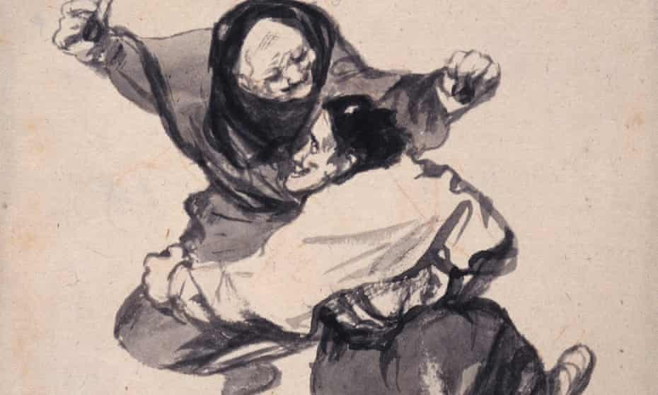 'Mirth', one of the 22 drawings in The Witches and Old Women Album, at the Courtauld in 2015.