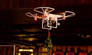 TGI Friday's mistletoe drone in Manchester
