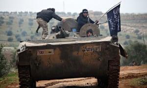 Al-Nusra Front fighters near Aleppo