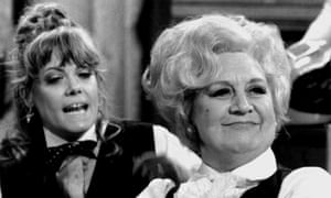 Wendy Richard, left, as Miss Brahms and Mollie Sugden as Mrs Slocombe in a 1983 episode of Are You Being Served? The series was written by Jeremy Lloyd and David Croft.