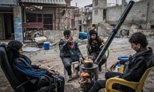 Aleppo rebel fighters