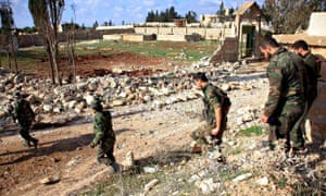 Syrian forces north of Aleppo