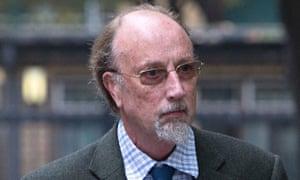 Charles Napier outside Southwark court