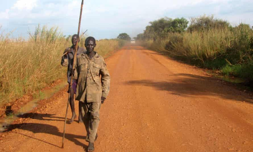 Guards near Saudi Star's farm in Gambella, which was attacked by gunmen two years ago.
