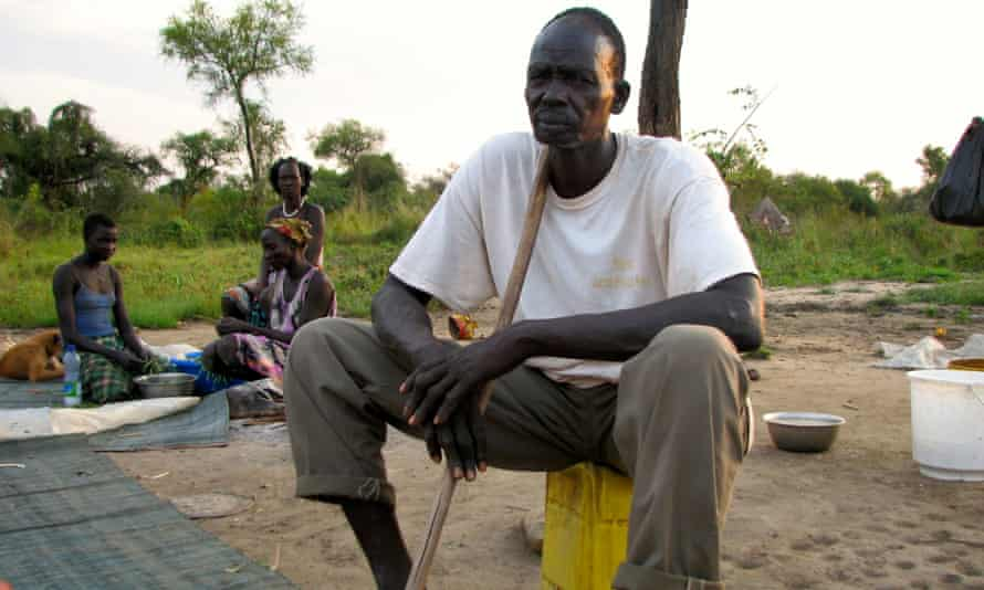 Jakob Pouch says his community in Gambella hasn't benefited from a nearby commercial farm.