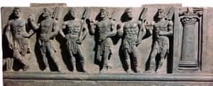 Gandhara sculpture marine deities British Museum