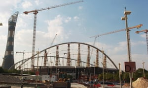 Khalifa Stadium in Doha is one location undergoing complete renovation in preparation to host some of the matches for the 2022 World Cup in Qatar.