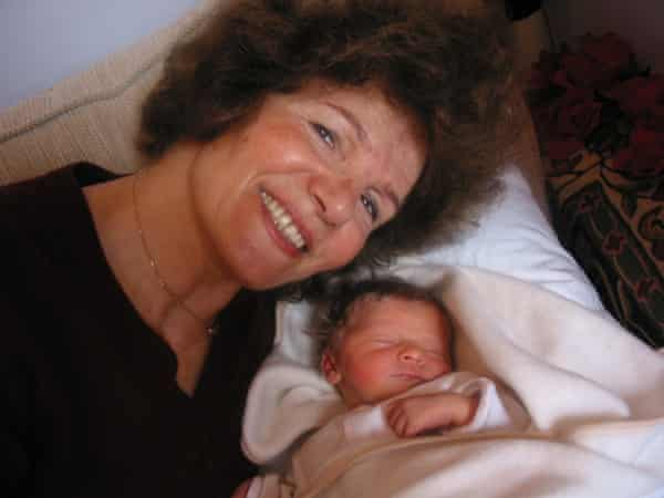 Alinah's mother, Parvin Rieu with her grand-daughter Delia