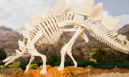 3D printing firm MakerBot's latest design is a 96-piece stegosaurus skeleton.