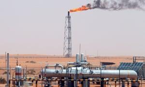 Oil field in Saudi Arabia