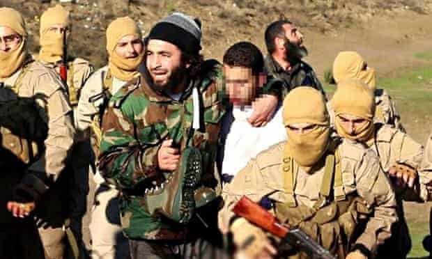 Image released by Isis purporting to show captured Jordanian pilot