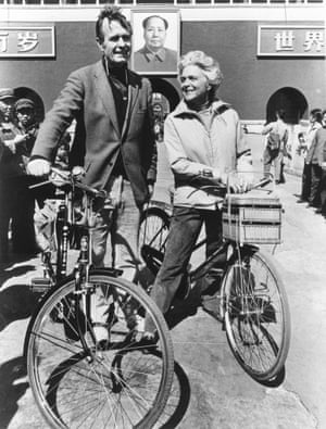 George and Barbara in Beijing the year after President Gerald Ford appointed Bush as the chief of the US liaison office to China in 1973.