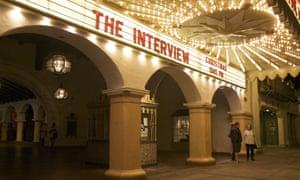 the interview screening cinema