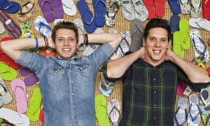 Paul and Rob Forkan, founders of Gandys flip-flops