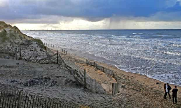 Christmas day at Formby Point, Merseyside