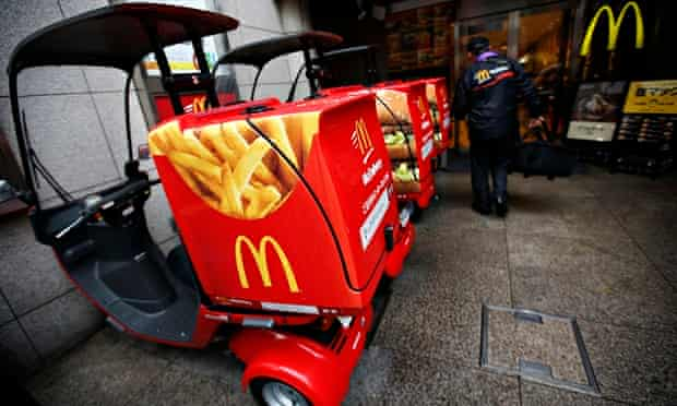 McDonald's delivery scooters