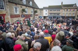 Riders of the Heythrop Hunt in Chipping Norton Oxfordshire