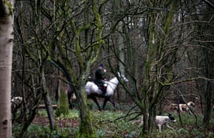 Duke of Beaufort Boxing Day hunt at Worcester Lodge, Gloucestershire