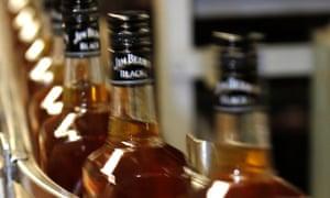 Jim Beam whiskey bourbon