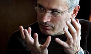 Former imprisoned Russian tycoon Mikhail Khodorkovsky.