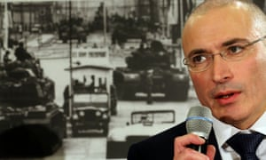 22 Dec 2013, Berlin, Germany. Khodorkovsky holds a press conference at the Berlin Wall Museum, two days after he received a pardon from prison.